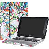 "Alapmk Protective Case Cover For 10.1"" ASUS Chromebook Flip C100PA C101PA Series Laptop(Warning:Not fit ASUS Chromebook Flip C201PA/C202SA/C213SA/C302CA/C300SA),Love Tree"