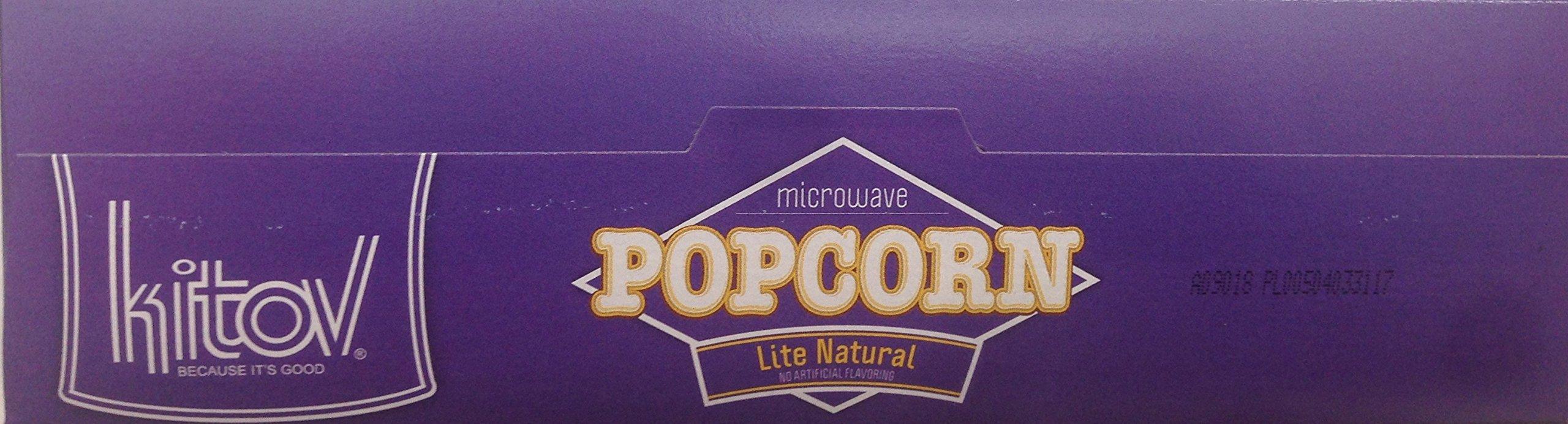 Kitov Microwave Popcorn Lite Natural No Cholesterol 19.2 Oz. Pk Of 6.