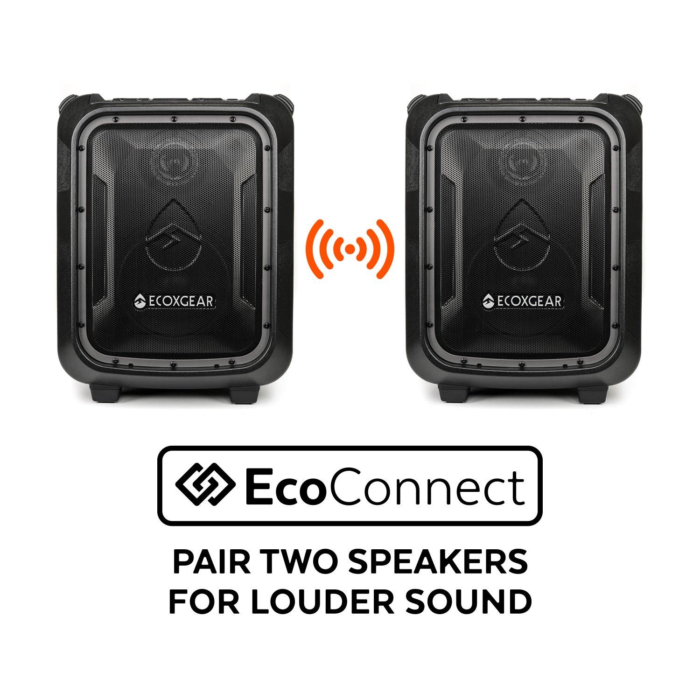 ECOXGEAR GDI-EXBLD810 Waterproof Portable Bluetooth/AM/FM Wireless 100W Speaker & PA system by ECOXGEAR (Image #8)