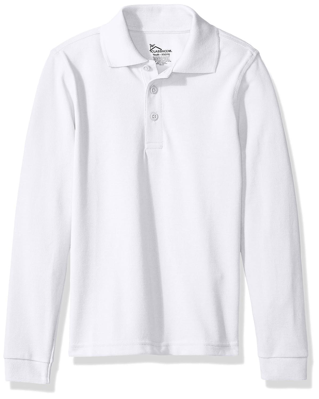 Classroom Kids Little Boys' Uniform Long Sleeve Pique Polo 58352