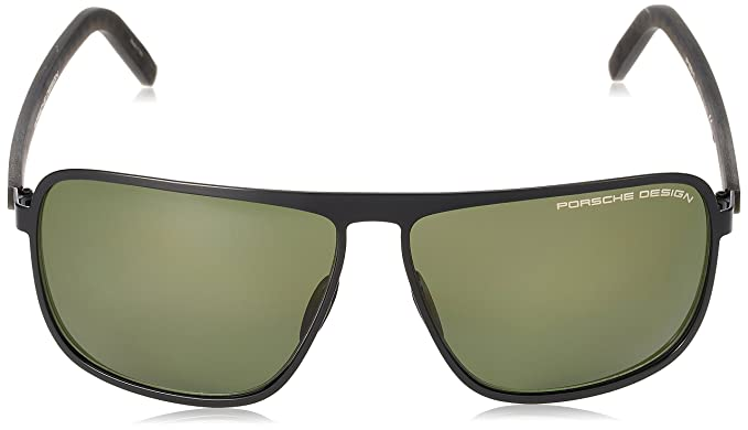 8f362195686 Amazon.com  Porsche Design P8641 A (Black) Men s Designer Sunglasses 62-12   Clothing