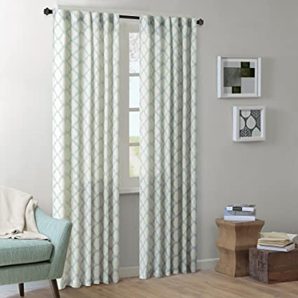 Amazing Ink+Ivy Modern Blue Curtains For Living Room, Nakita Print Rod Pocket  Window Curtains