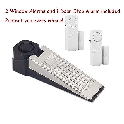 Amazon.com : Wedge Doorstop Alarm and Window Security Alarm ...