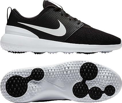 d13b583044 Nike Youth Roshe G Breathable Lightweight Cushioning Golf Shoes(Black/White/  10)