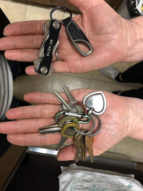 Key Pocket Organizer for Up to 10 Keys Smart Key Organizer with Secure Locking Mechanism with Keychain Smart Compact Key Holder with Keychain Bundle