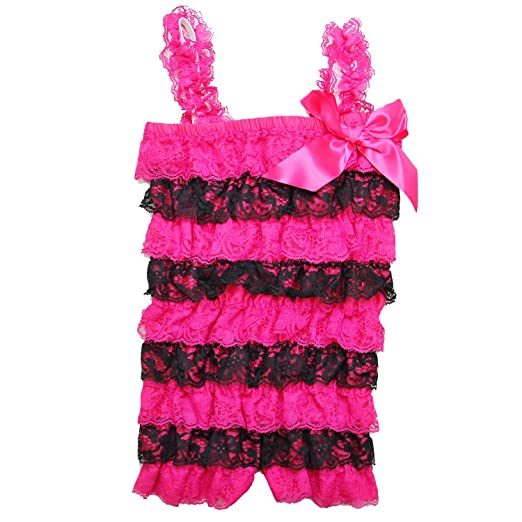 c4fa5cc7adc Amazon.com  Kirei Sui Baby Girls Lace Ruffled Petti Romper  Clothing