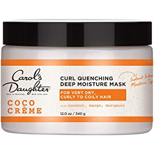 Curly Hair Products by Carol's Daughter, Coco Creme Curl Quenching Deep Moisture Hair Mask For Very Dry Hair, with Coconut Oil and Mango Butter, Hair Mask For Curly Hair, 12 Ounce (Packaging May Vary)