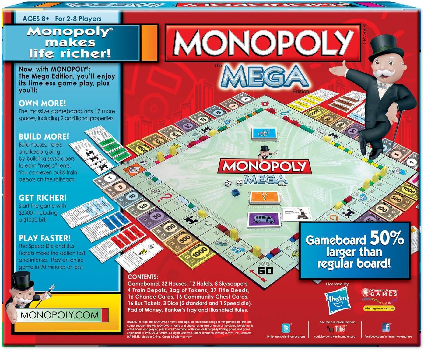 Winning Moves 1104WM Monopoly The Mega Edici-n: Amazon.es ...