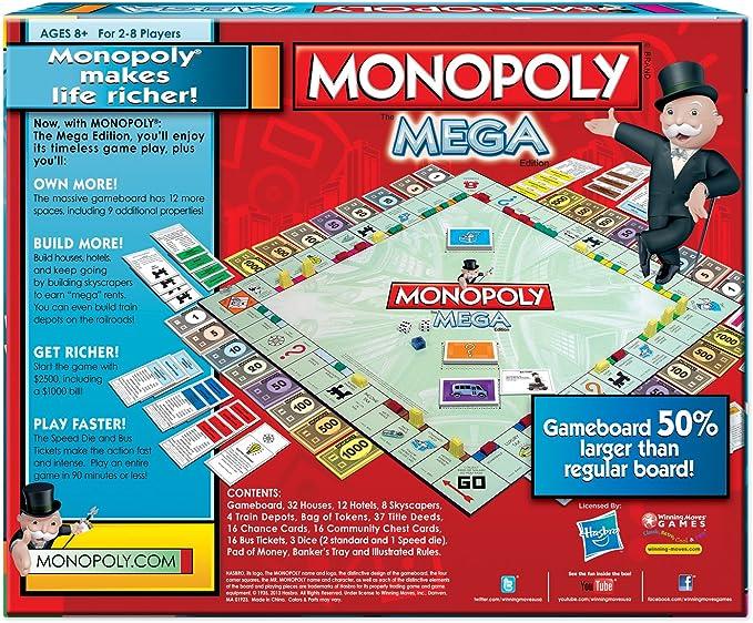 Winning Moves 1104WM Monopoly The Mega Edici-n: Amazon.es: Juguetes y juegos