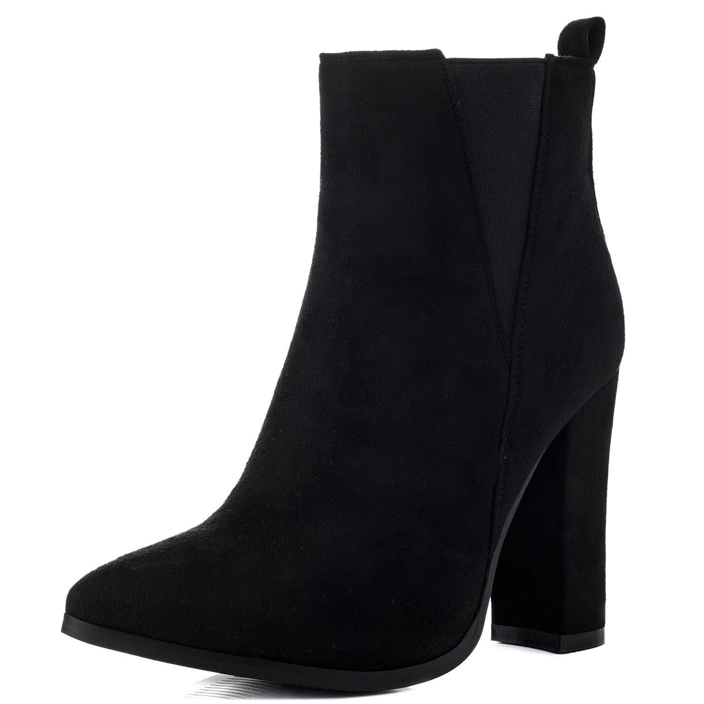 radiant pointed toe block heel chelsea ankle bottes