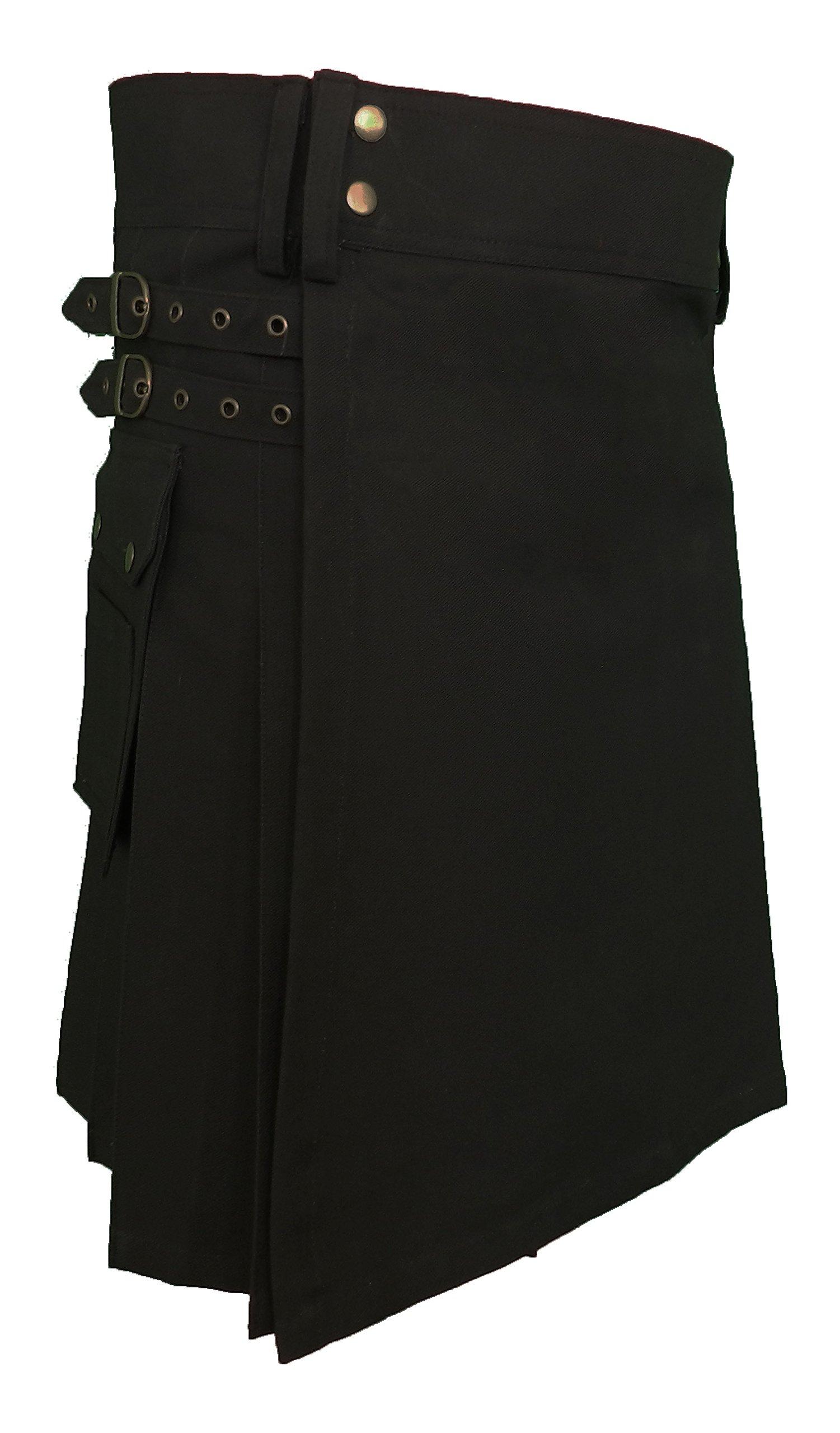 UT Kilts Men's UTK Standard Utility Kilt Black 36