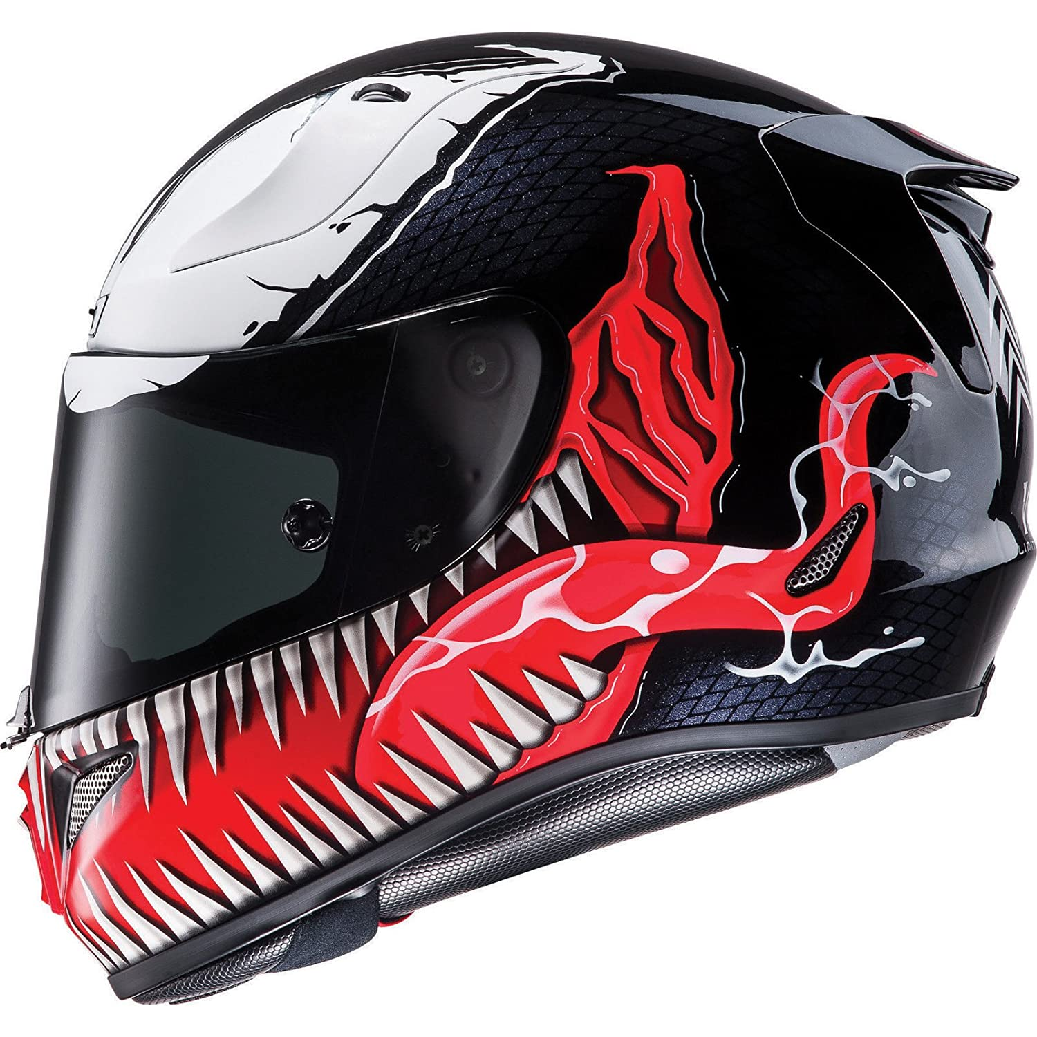 HJC Rpha 11 Venom casco de moto, R1VRS, Black White Red ...