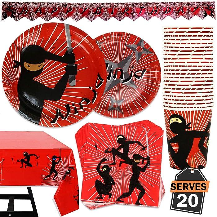 Top 10 Ninja Party Supplies For Boys