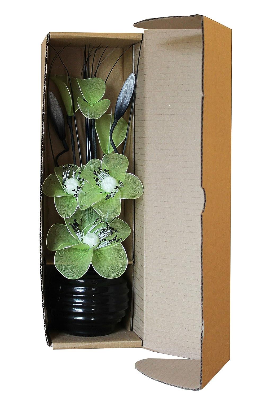 Piccolo vaso con fiori artificiali colore verde lime Flourish 813