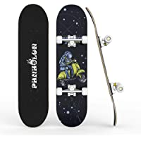 Skateboards para principiantes, 31 x 8 pulgadas completo monopatín con rodamientos ABEC-7 y rueda 95A, cubierta de arce…