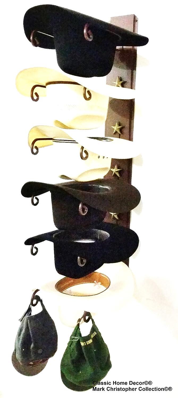 d7e0bc96e5a33 American Made Cowboy Sombrero Holder Star 886 6 Tier perchero para sombreros   Amazon.es  Hogar