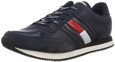 03ed17bf17eaad Tommy Jeans Men s RWB Casual Retro Sneaker Low-Top  Amazon.co.uk ...