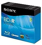 Sony 5BNR25R3H - Disco BLU-Ray grabable (6 x 25 GB, 5 Unidades)