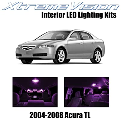 XtremeVision Interior LED for Acura TL 2004-2008 (14 Pieces) Pink Interior LED Kit + Installation Tool: Automotive [5Bkhe0804594]