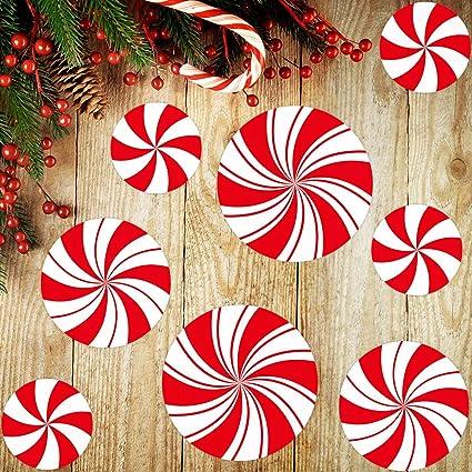 Door Hanger Decorative Tole Pattern New 2020 Christmas Amazon.com: Peppermint Floor Decals Stickers for Christmas