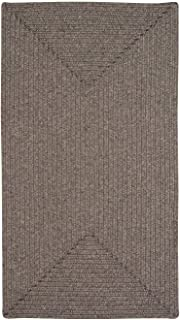 "product image for Candor Chestnut 9' 2"" x 13' 2"" Concentric Rectangle Braided Rug"