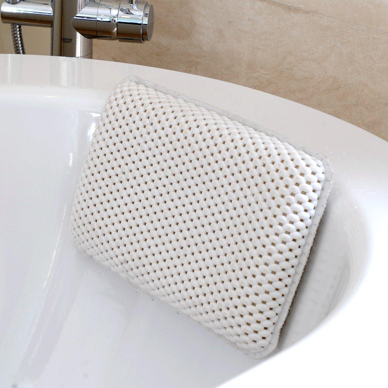 bathtub pillow TRENTA Home /& Garden Bathroom bathtub pillow bath bathtub headrest suction cup waterproof Bath Pillows Bathroom Products White