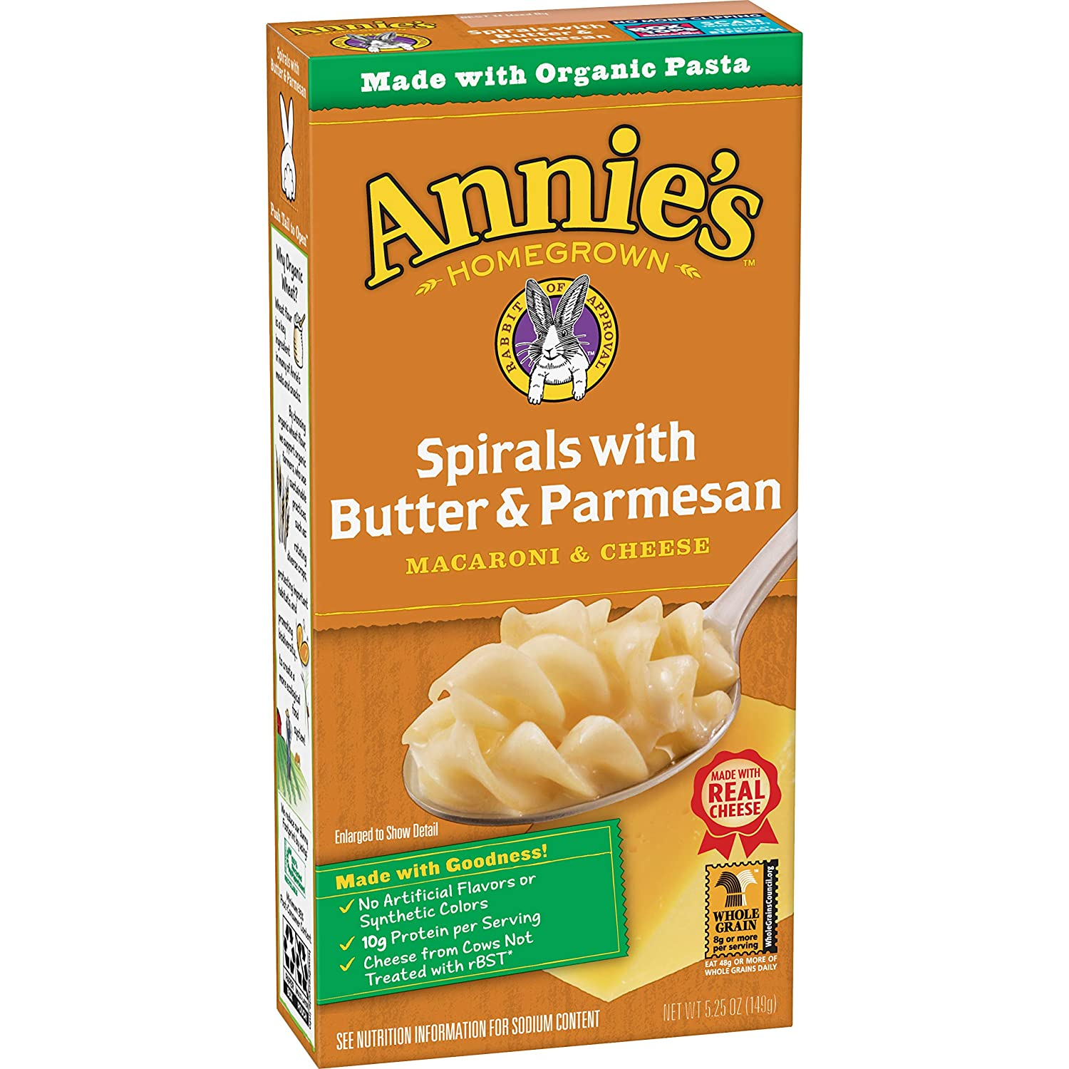 Annie's Spirals mit Butter & Parmesan Macaroni and Cheese, Natural (Pack of 12)