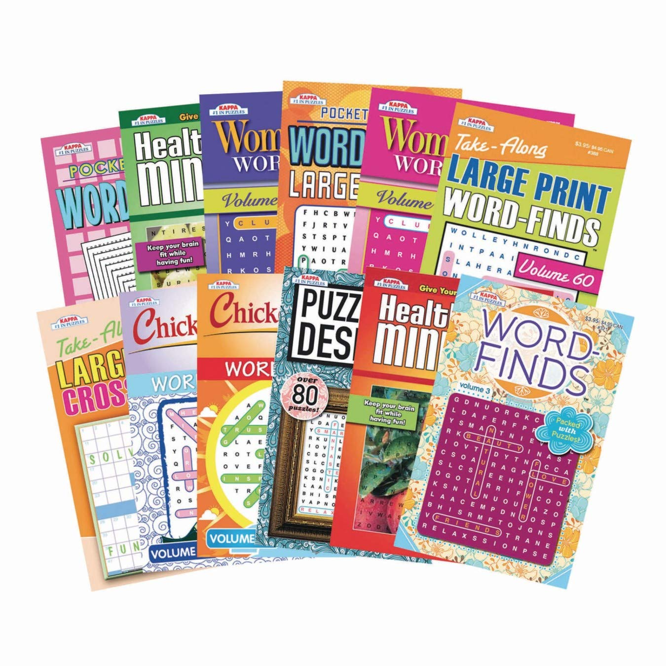 Kappa books Publisher, LLC Digest Size Word Find Puzzle Book Set (Pack of 12) (Pack of 12) by Kappa books Publisher, LLC