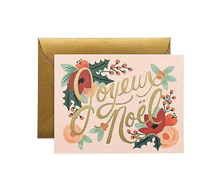 Amazon Com Joyeux Noel Christmas Holiday Card Set By Rifle Paper