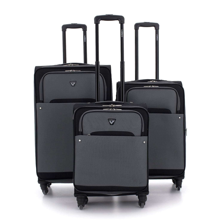 Valisa Net - Set 3 maletas Pequeña/Mediana/Grande (Negro): Amazon.es: Equipaje