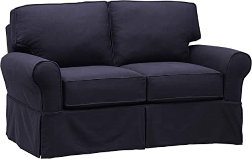Stone Beam Carrigan Casual Loveseat, 68 W, Navy