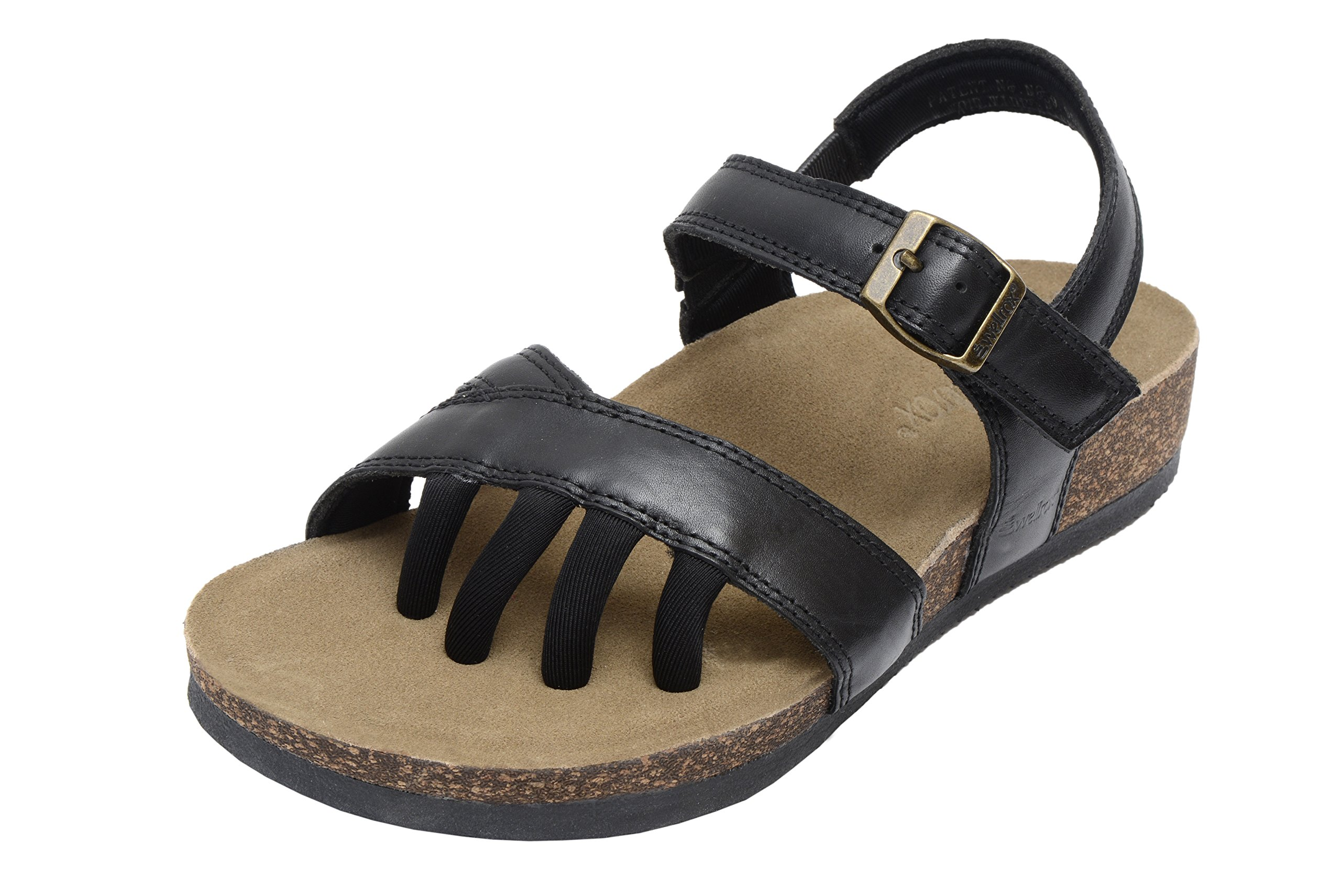 Wellrox Women's Santa Fee-Maddie Black Casual Sandal 10