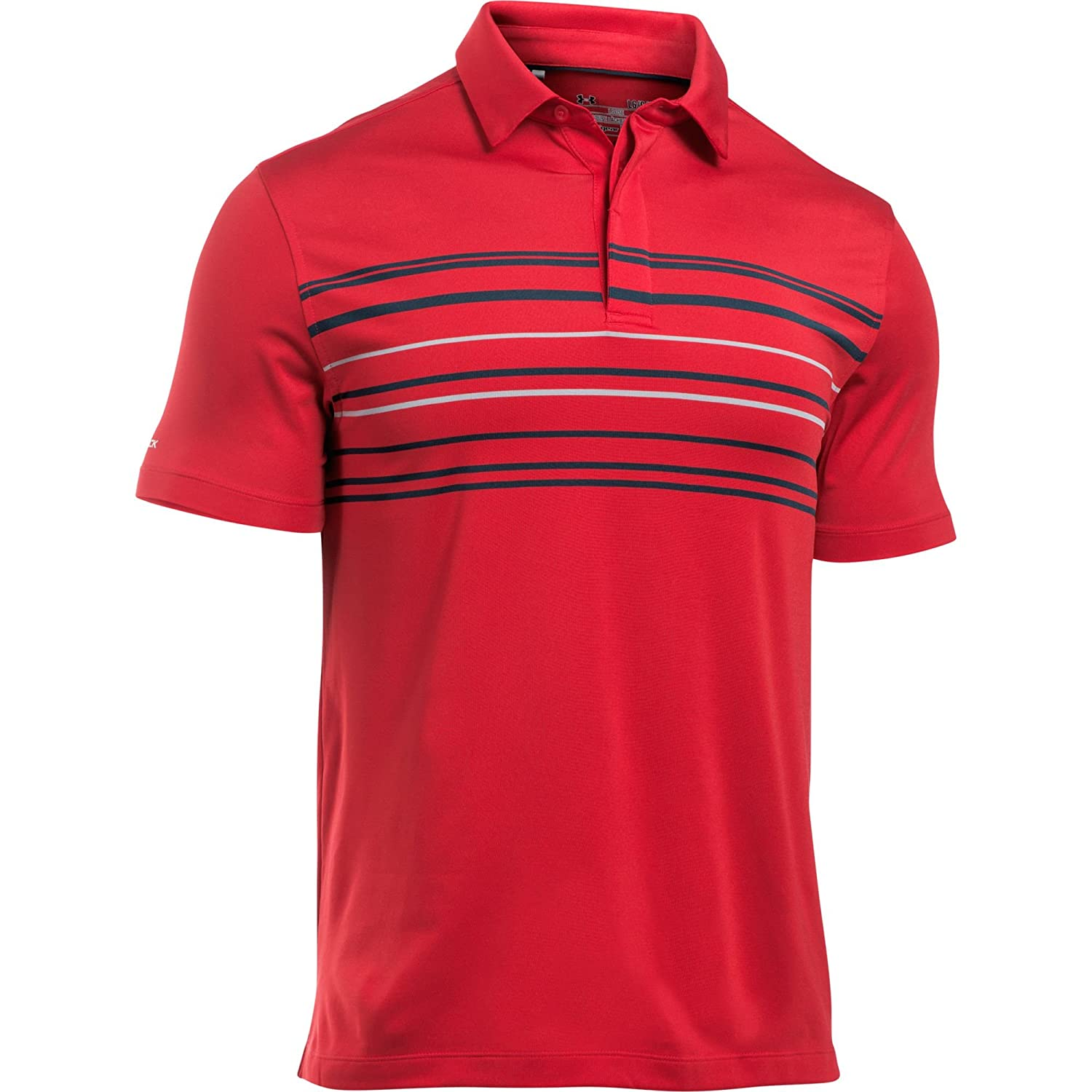 2017 Under Armour CoolSwitch Upright Polo Mens Golf Performance Polo Shirt Red Medium Ns7B5a8
