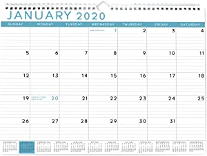 Sweetzer & Orange 2020 Calendar. 18 Month Office Wall Calendar 2020-2021 - Blue Business Design Monthly Planner, Daily Wall Calendars for Office Organization. 11.5 x 15 Inch Hanging Wall Calendar