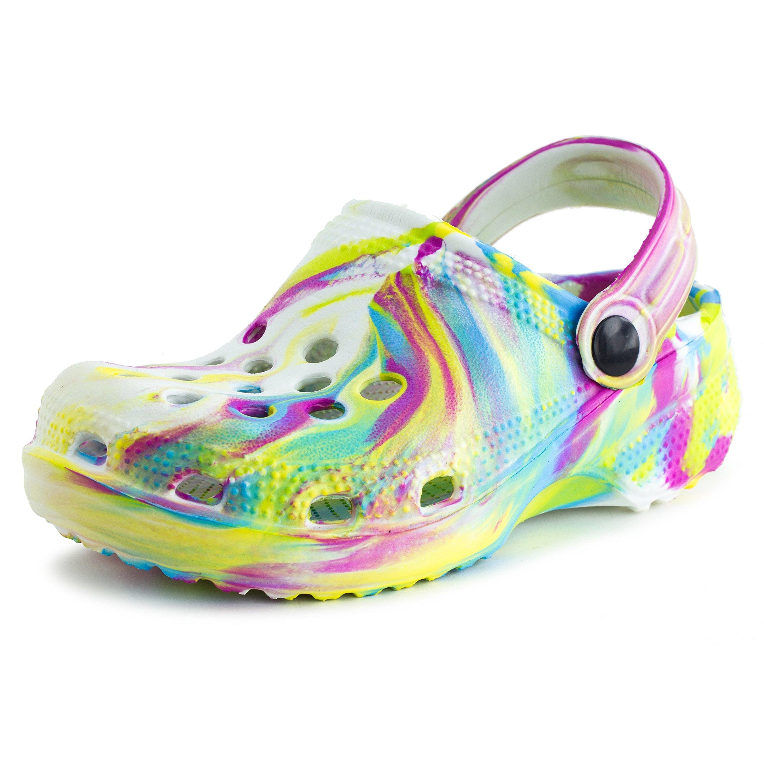 aah! Boys Girls Unisex Waterproof Clog Sandals, White, 3 M US Little Kid