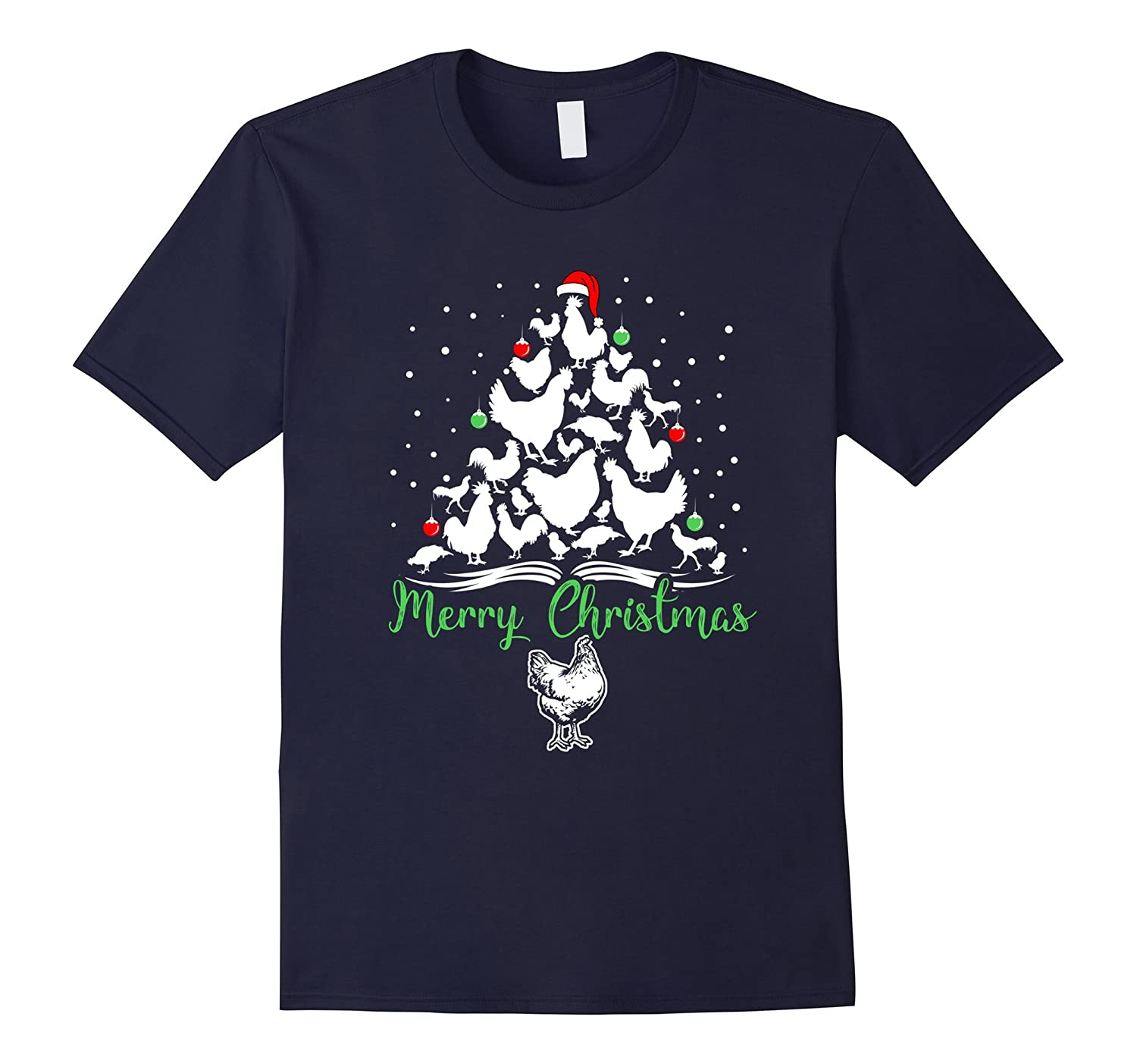 Christmas Tree Merry Chicken Lover-Tovacu