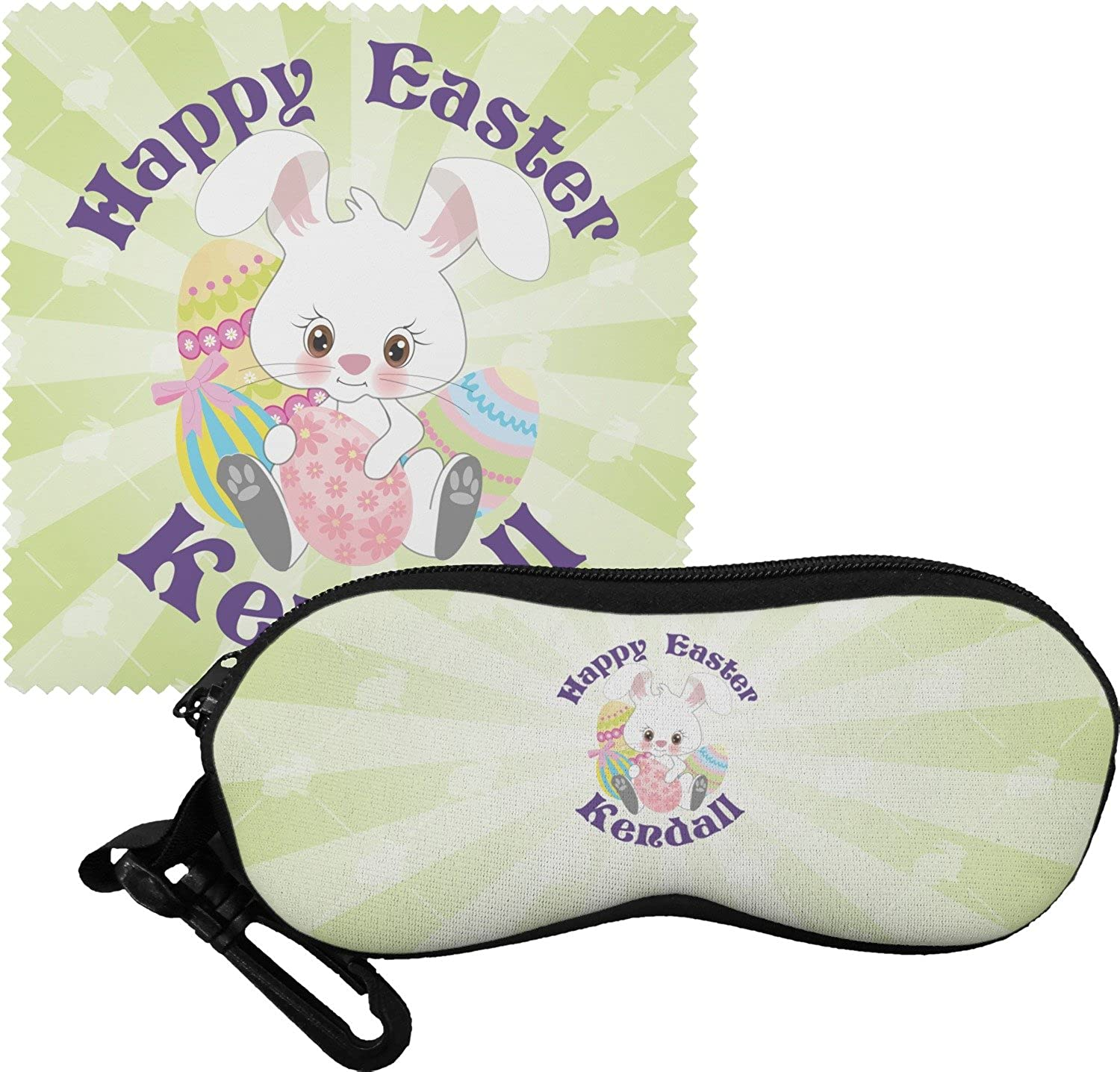 Easter Bunny Eyeglass Case & Cloth (Personalized)