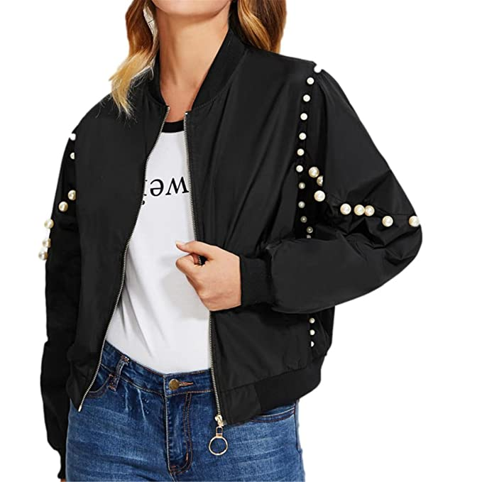 Longra Mujer Chaqueta, Ropa Punk Impermeable Mujeres Solapa Faux Leather Biker Corta Chaqueta Outwear (