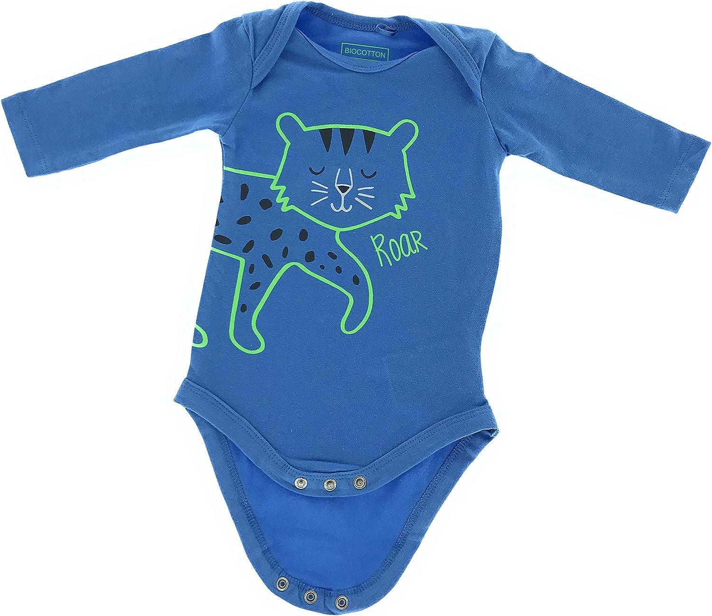 Set di 2 Body per Beb/è Motivo: Gatto in Cotone bio 0-24 Mesi jbc