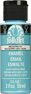 product image for FolkArt Enamel Glass & Ceramic Paint in Assorted Colors (2 oz), 4039, Calypso Sky