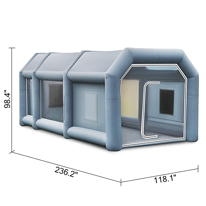 Husuper Cabina de Pintura Inflable 6 x 3 x 2.5 M Carpa Hinchable ...