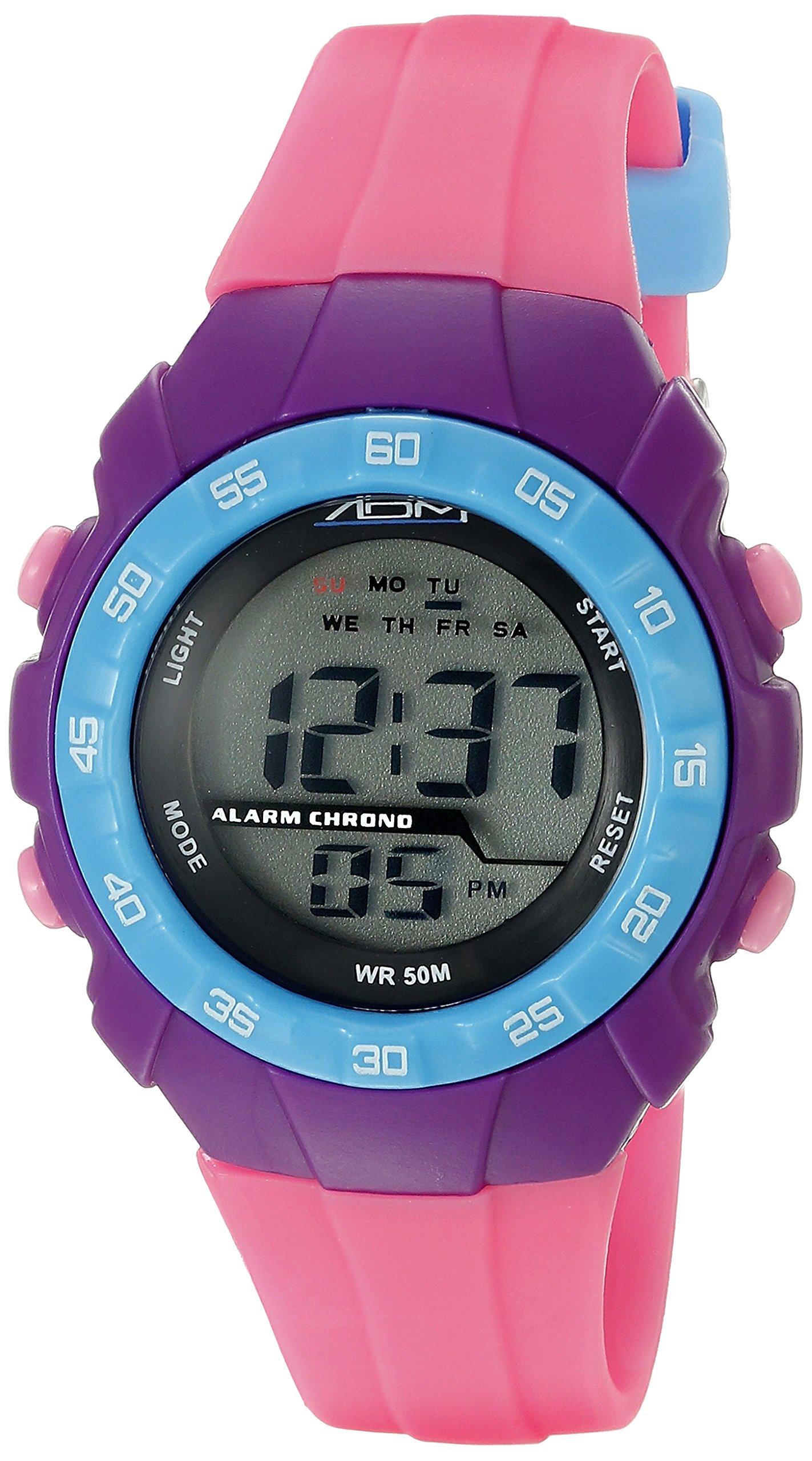 American Design Machine Jr. Kids' ADSG 5001 PNK Phoenix Digital Display Quartz Pink Watch