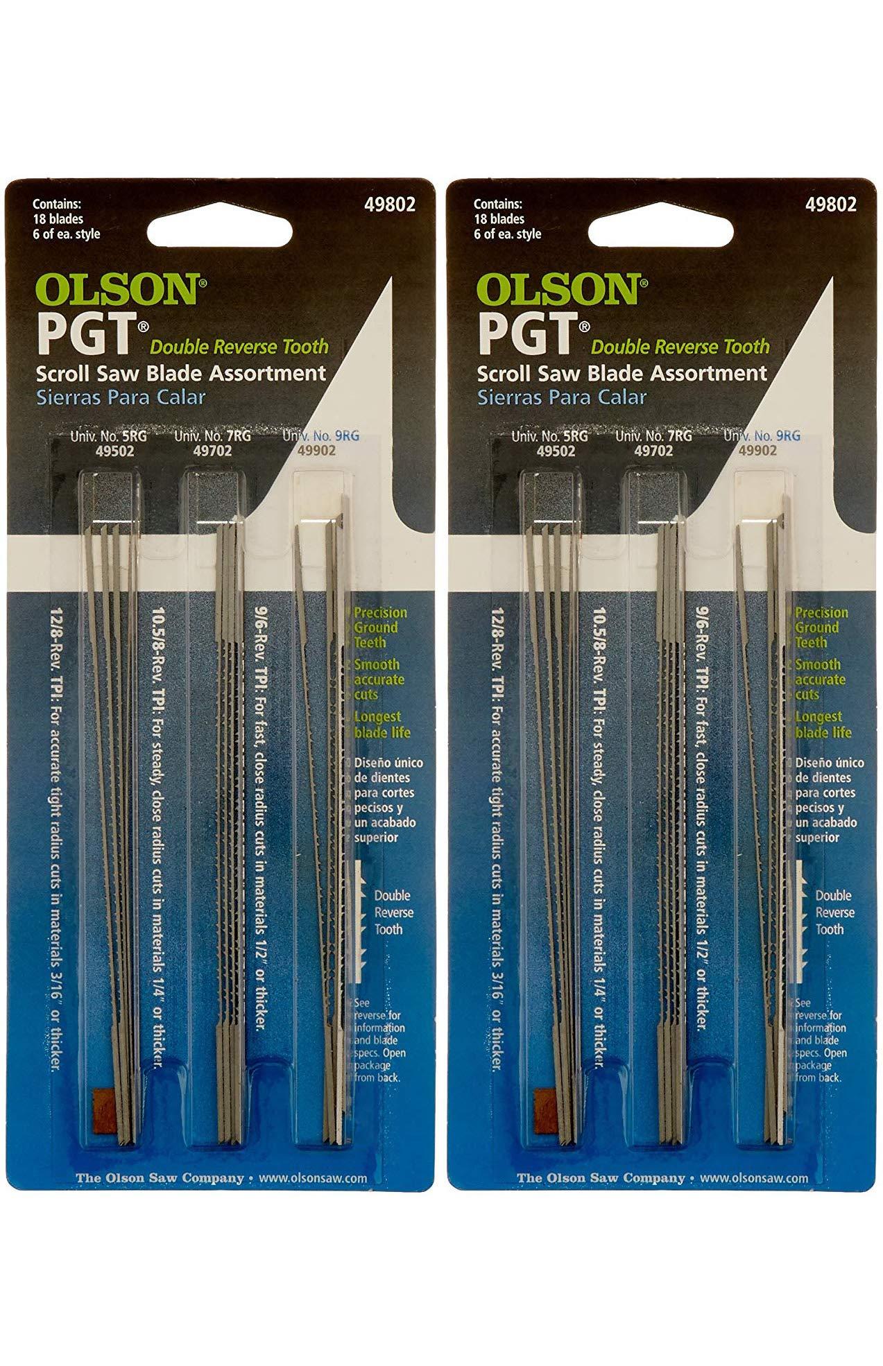 Olson Saw PG49802 Precision Ground Scroll Saw Blade (Тwo Рack) by OLSON SAW