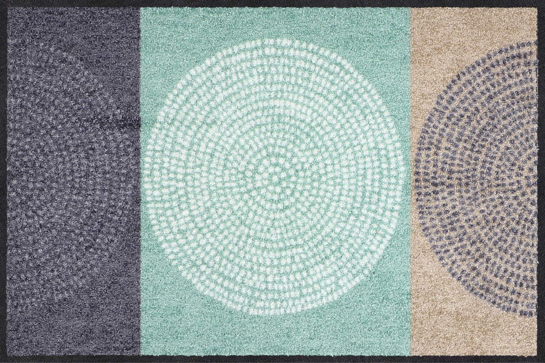 Salonloewe Fußmatte grau mint Größe 75x190 cm
