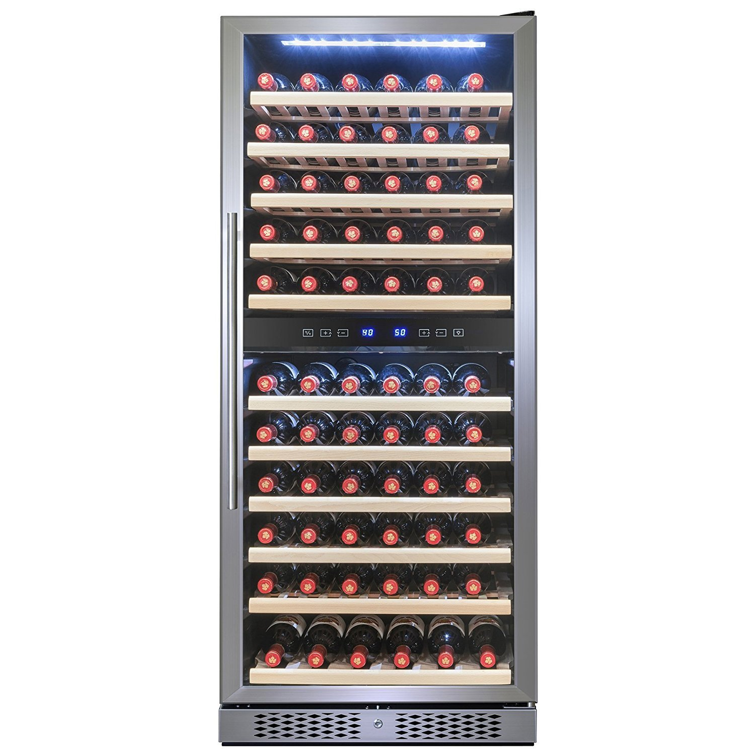 FIREBIRD 116 Bottle Dual Zone Freestanding Electric Wine Cooler Chiller Refrigerator w/ Touch Control Built-in Compressor