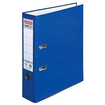 Herlitz 9942665 - Archivador con anillas (A4, 5 unidades), azul: Amazon.es: Oficina y papelería