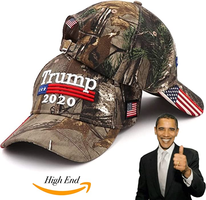f4d4f6d510f15 High End Retail Donald Trump Hat Camouflage Cap Keep America Great MAGA Hat  President 2020 American