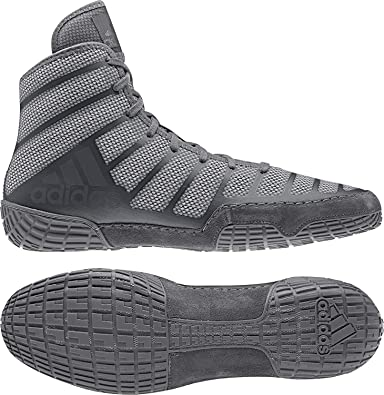 the latest 5db4e 398b1 Amazon.com   adidas Adizero Varner Men s Wrestling Shoes, Onyx Grey, Size 4    Wrestling