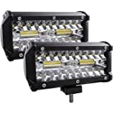 Zmoon Led Light Bar,240W 24000lm Led Fog Light 7 Inch Led Driving Lights Off Road Lights with Spot&Flood Combo Beam,Waterproo
