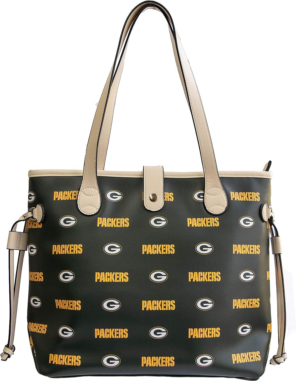 Large Bag2School NFL Green Bay Packers Patterned Tote Bag